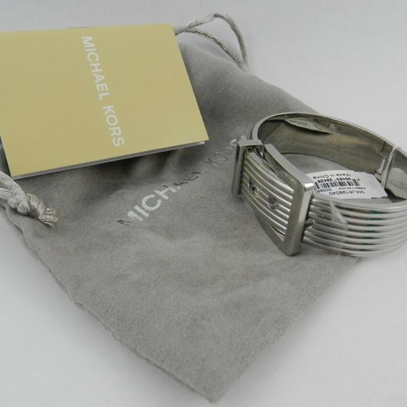 Michael Kors Jewelry Womens Metallic Ribbed Buckle Bangle Poshmark